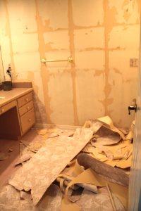 Wallpaper destruction.